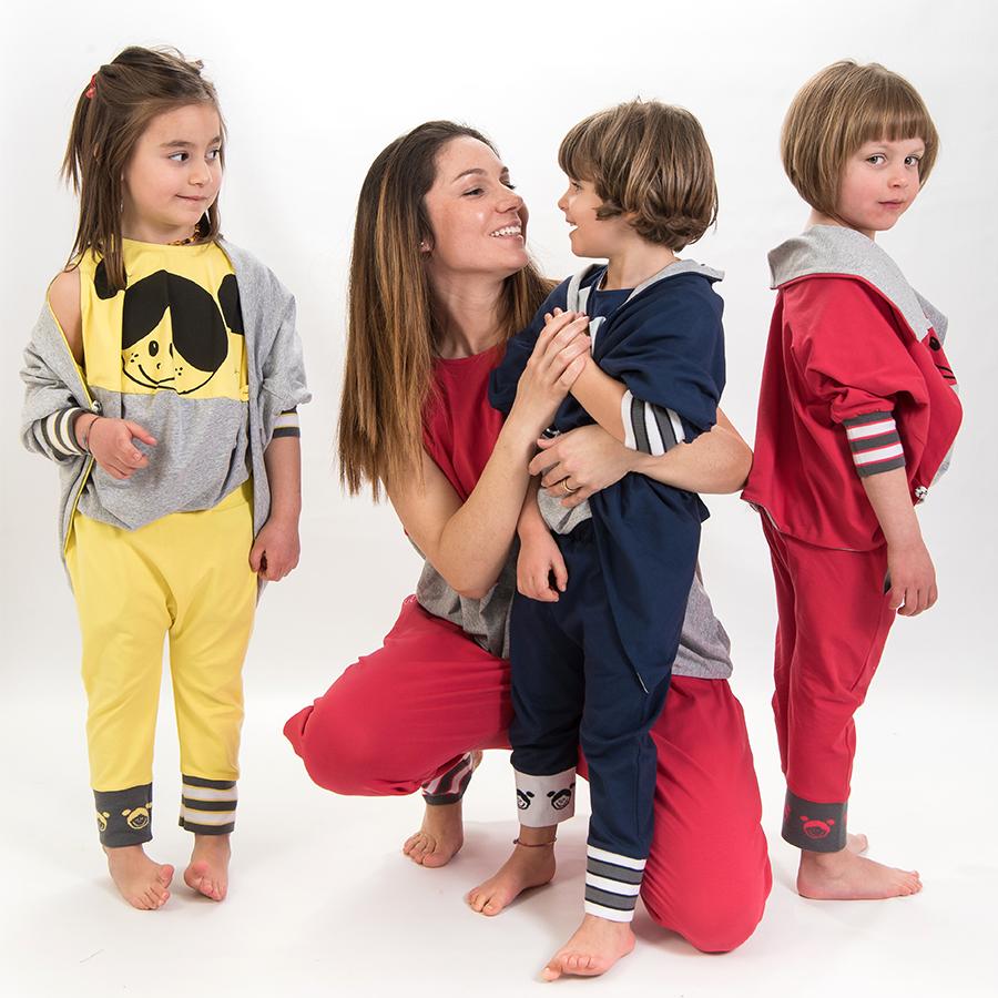 Abbigliamento coordinato mamma figlia/o