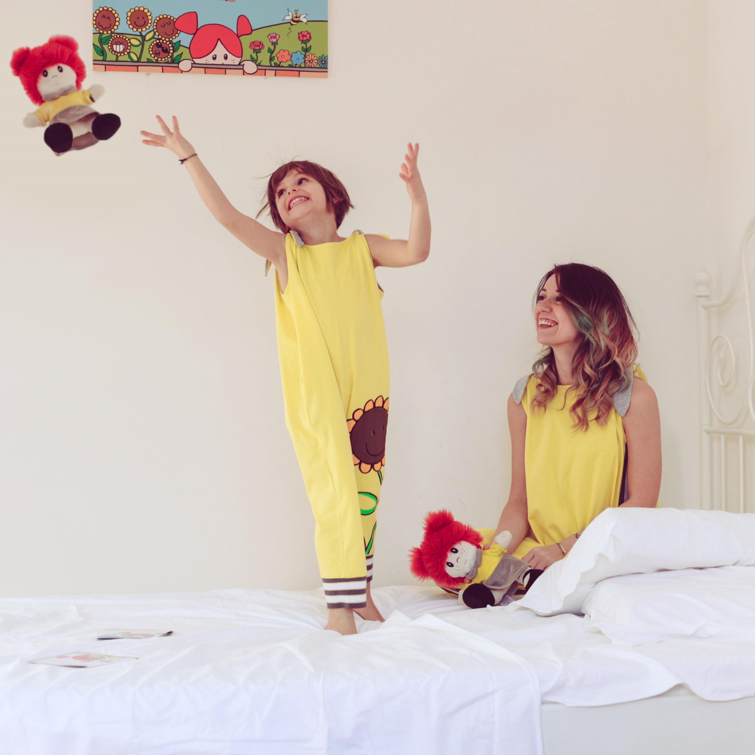 Coordinato-mamma-bimba-giallo